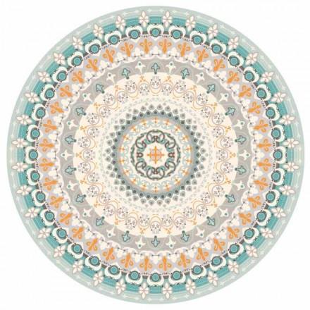 Ronde design Amerikaanse placemat in PVC en polyester, 6 stuks - Rondeo