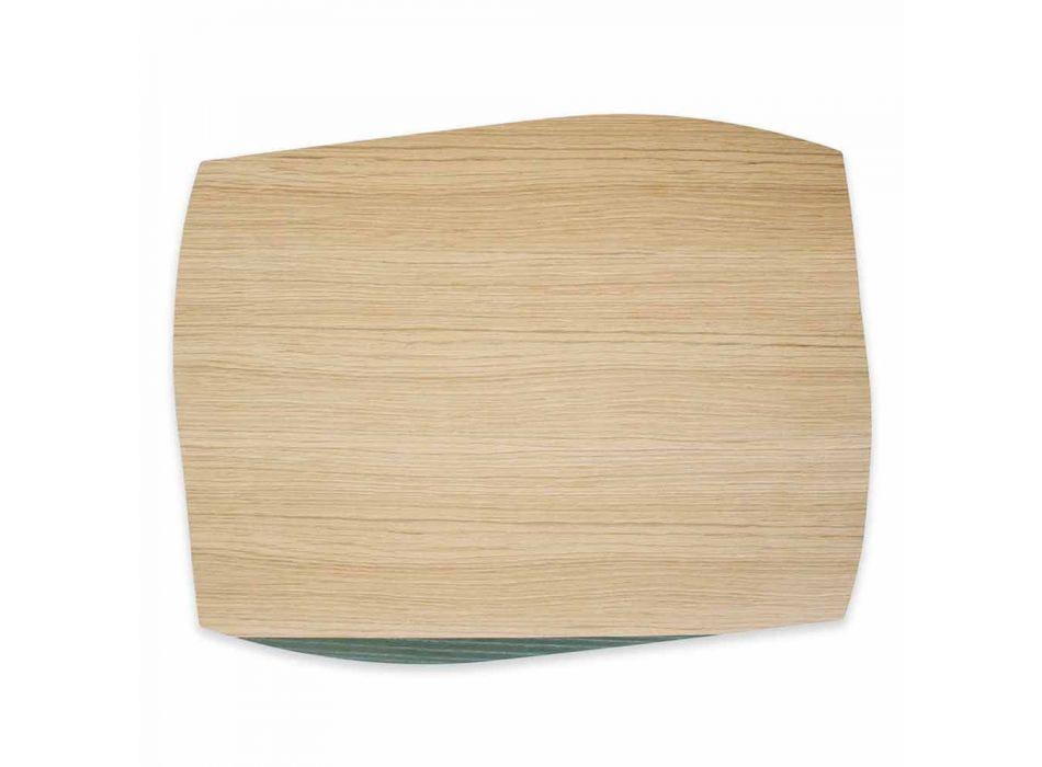 Moderne rechthoekige placemat in eikenhout gemaakt in Italië - Abraham