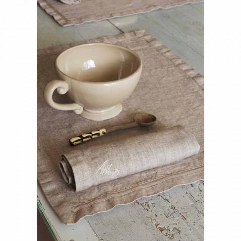 Amerikaanse placemats en linnen ontbijtservetten 2 stuks - Maccanone
