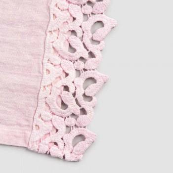 Amerikaanse placemats in linnen met Poema-kant, 3 kleuren 2-delig - Leonardino