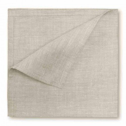 Natuurlijk of crèmewit puur linnen servet Made in Italy, 2 stuks - Blessy