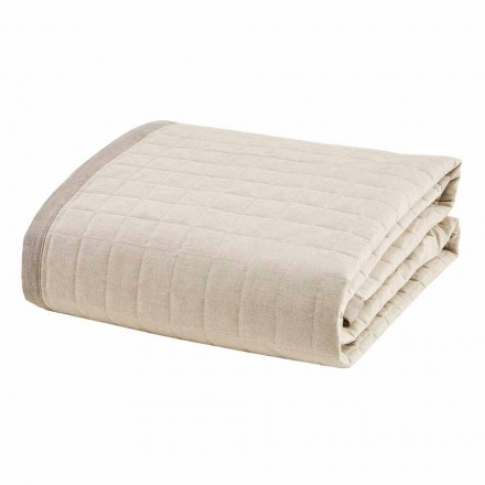 Lentedekbed voor tweepersoonsbed in ivoorkleurig katoen - Vitaleta