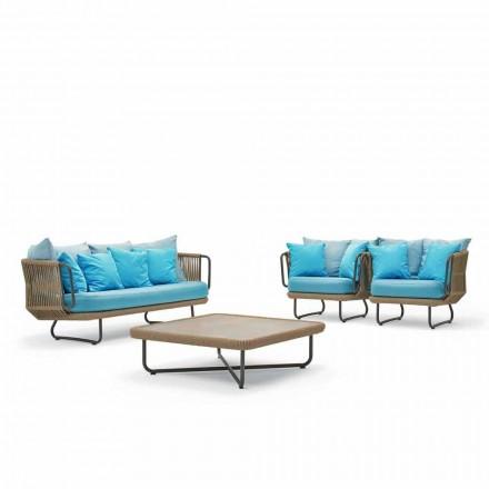 Varaschin Babylon-tuinsalon, bank, 2 fauteuils en 1 salontafel