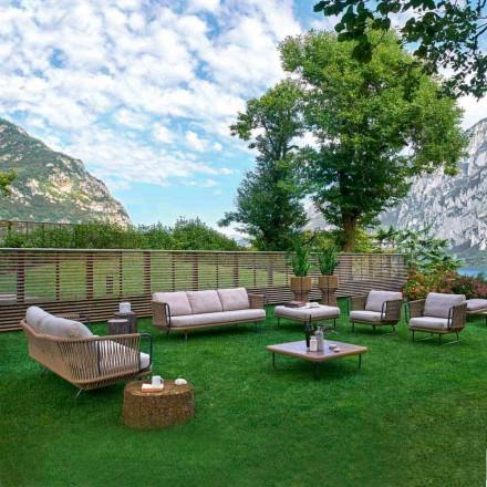 Varaschin Babylon moderne tuinlounge in aluminium en touw