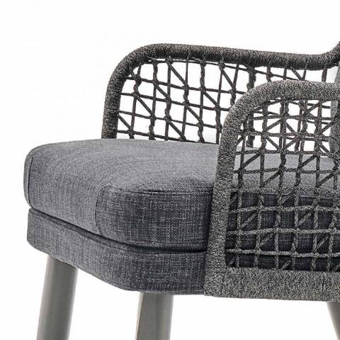 Moderne moderne fauteuil Varaschin Emma met stoffen hoofdsteun