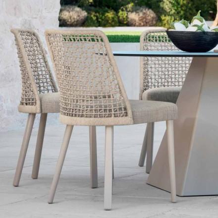 Varaschin Emma design tuinstoel in stof en aluminium
