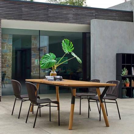 Varaschin Link teakhouten tuin eettafel H 75 cm