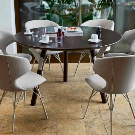 Varaschin Links Ronde tafel voor indoor / outdoor modern design, H 65 cm