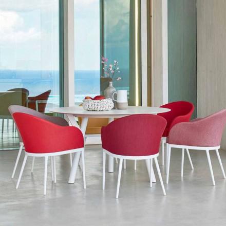Varaschin Links Ronde tafel modern design tuin, H 75 cm
