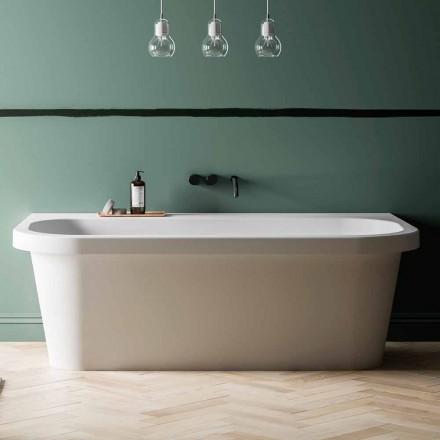 Vrijstaande badkuip glanzend / mat wit en gemaakt in Italië - Margex