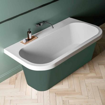 Bicolored glanzende / matte badkuip, Modern Free Standing - Margex
