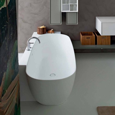 Wit design vrijstaande badkuip in moderne stijl - Lipperiavas1