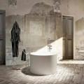 Vrijstaand bad met rond design, 100% geproduceerd in Cremona, Italië