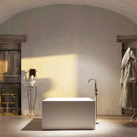 Vrijstaand vierkant bad Argentera, 100% geproduceerd in Italië