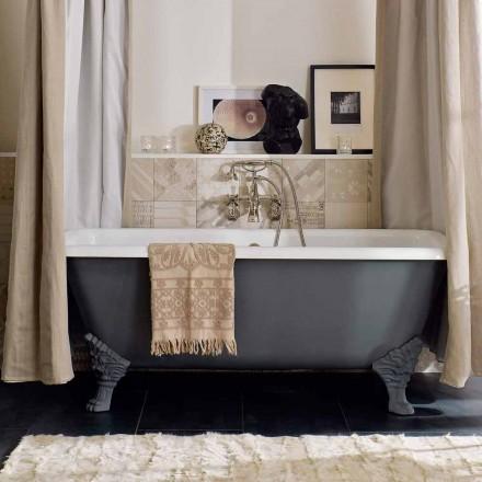 Vintage vrijstaande badkuip met voeten, in gietijzer - Nausica