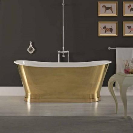 Bath ontwerp met gietijzeren buitenbekleding ottone Roy