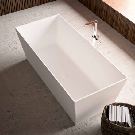 Vrijstaande badkuip glanzend / mat, met twee maten - Filo