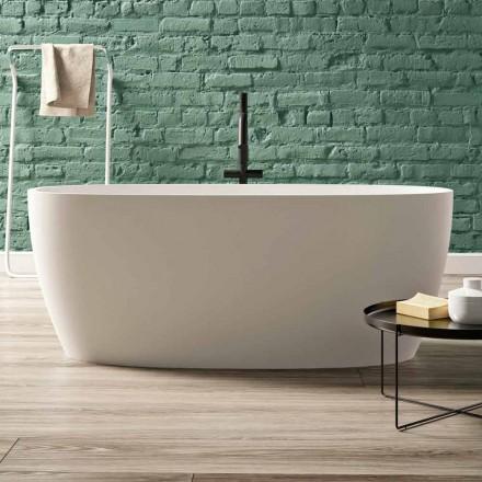 Vrijstaande badkuip, design in massief oppervlak glanzend / mat - Velo