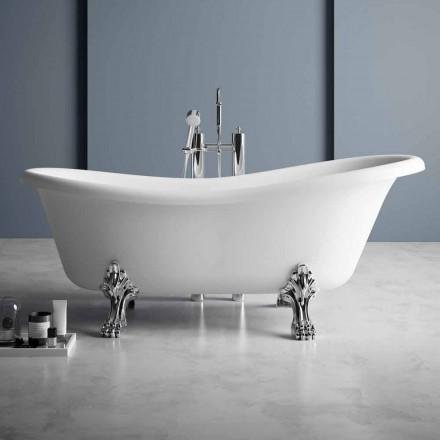 Vrijstaande badkuip, Victoriaans ontwerp in effen oppervlak - Regen