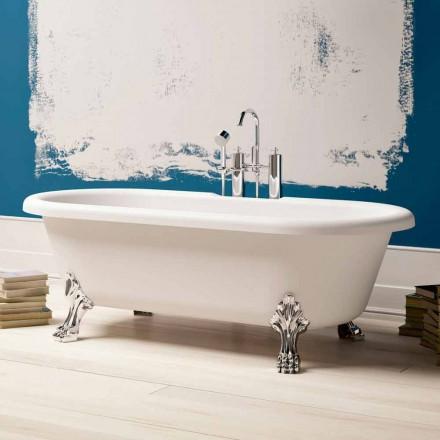 Design vrijstaande badkuip, verchroomde voeten - gratis