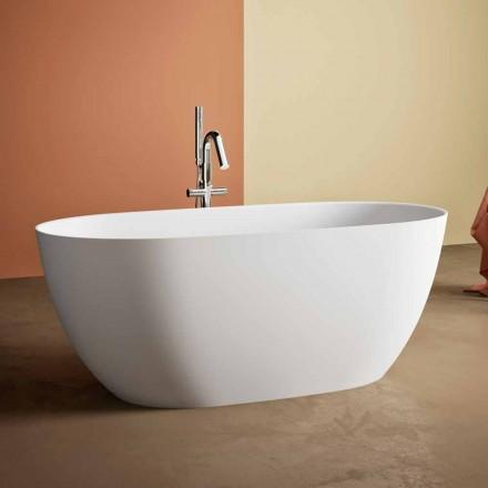 Vrijstaande badkuip, Made in Italy, in Solid Surface - Flow