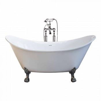 Bath witte vrijstaande modern design 173x75cm Katie