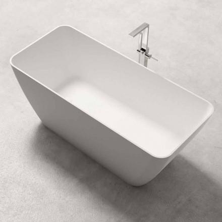 Modern design vrijstaande badkuip glanzend of mat wit - gezicht