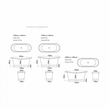 Badkamer ontwerp vrijstaande nikkel en koper Angelica