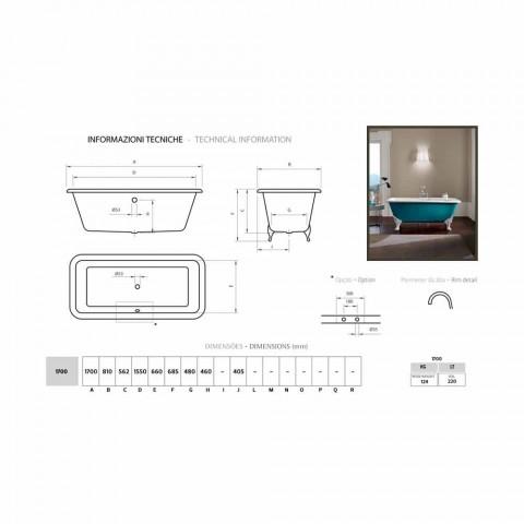 Bath ontwerp vrijstaande gietijzeren decoratieve pinnen Wanda