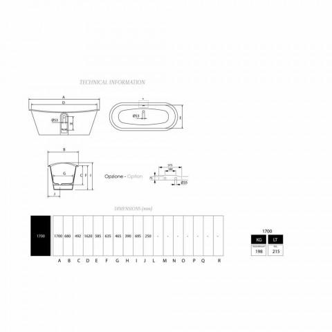 Bath vrijstaande vergulde gietijzer staal extern Sharon