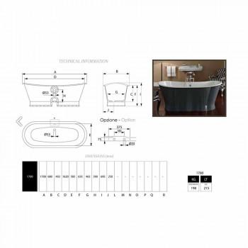 Vrijstaand bad in gietijzer met origineel design Cox