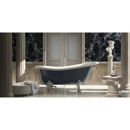 Klassiek design vrijstaand bad van blauwe hars, Fregona gemaakt in Italië