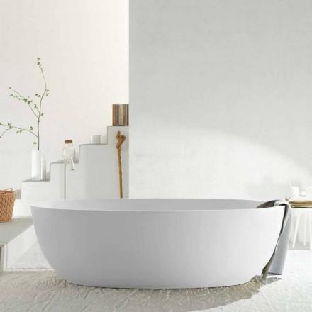 Modern ovaal vrijstaand bad uit één stuk gemaakt in Italië, Frascati