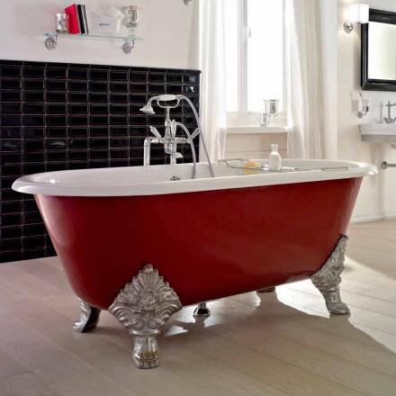 Vintage vrijstaande badkuip met gietijzeren voeten, gemaakt in Italië - Naike