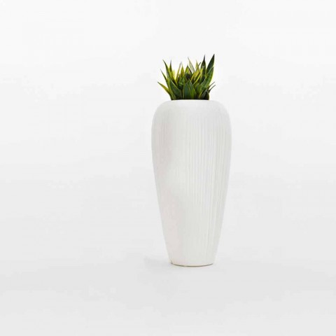 2 stuks witte, beige of antraciet polyethyleen vaas - Skin by Myyour