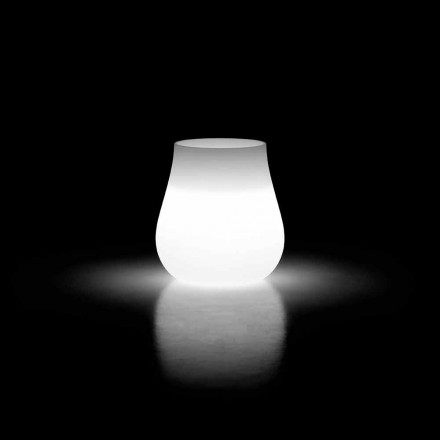 Outdoor lichtgevende design druppelvaas in polyethyleen Made in Italy - Monita