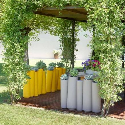 Buiten decoratieve vaas Dia Bamboe modern ontwerp gemaakt in Italië