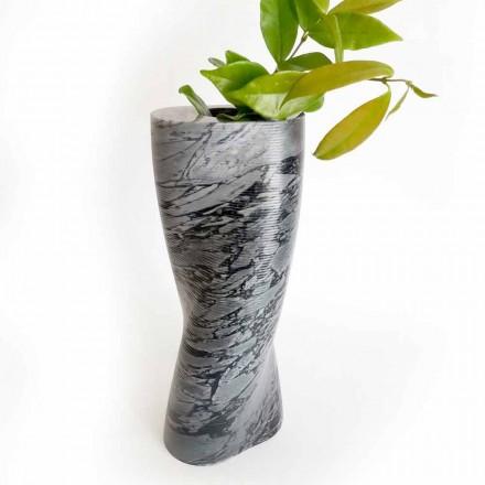 Moderne decoratieve vaas in Bardiglio Fiorito-marmer Gemaakt in Italië - Dido