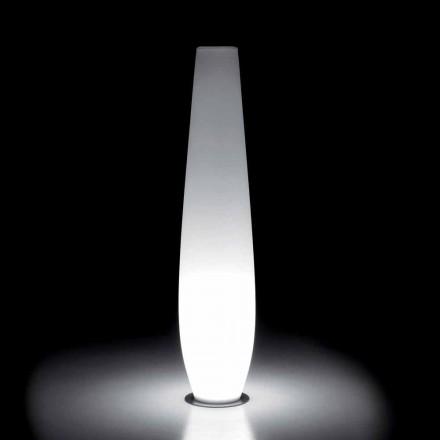 Lichtgevende vaas voor buiten met LED-licht in polyethyleen Gemaakt in Italië - Nadai