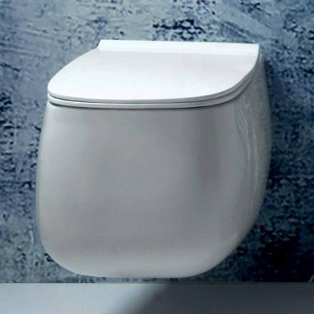 Modern design witte keramische hangende vaas van Gaiola, made in Italy