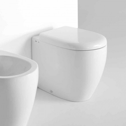 Modern design staande WC in gekleurd keramiek Made in Italy - Lauretta