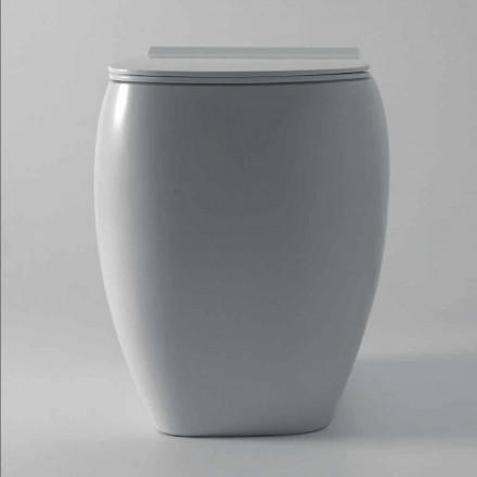Witte keramische WC vaas met modern design Gais, made in Italy