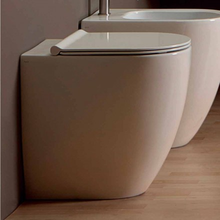 Vaas WC in wit keramiek modern design Shine Plein H50 Rimless