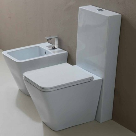 Vaas WC in wit keramiek modern design Zon Vierkant, made in Italy