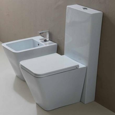 Vaas WC in wit keramiek modern design Zon Vierkant, made in Italy