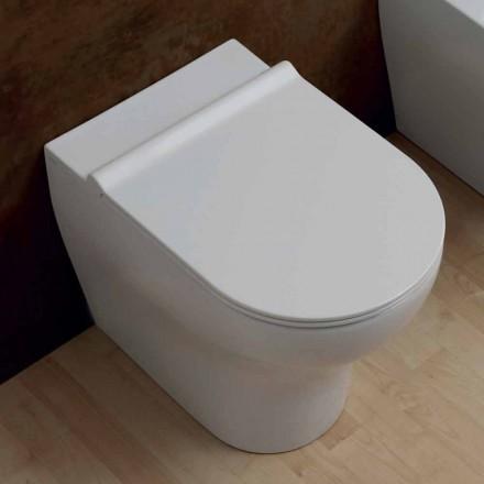 Vaas Witte keramische wc-Star 54x35cm Made in Italy, modern design
