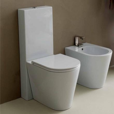 Vaas toilet in modern wit keramiek Zon Ronde 57x37 cm Made in Italy
