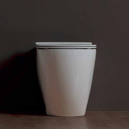 Vaas modern toilet wit keramiek Shine Plein Rimless Made in Italy
