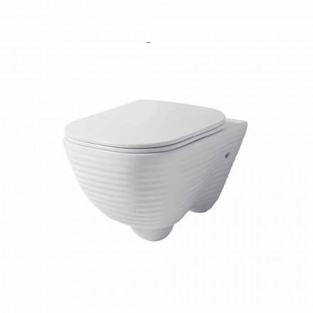 Moderne hangende toiletvaas in wit of gekleurd keramisch Trabia