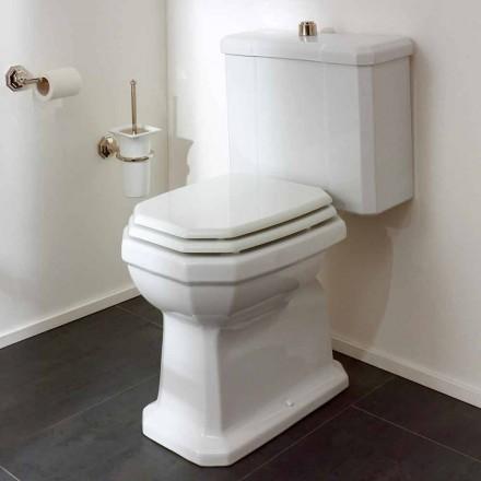 Witte keramische toiletpot met cassette, gemaakt in Italië - Nausica
